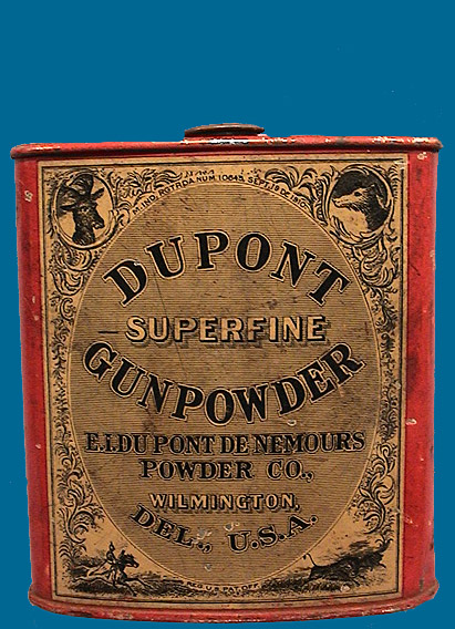 Dupont Powder Tin 1/2 puond size