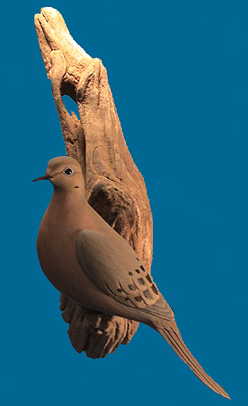 Awsome life size dove by Eddie Wozny, signed & dated 1995