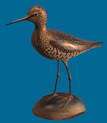 Rare lifesize Elmer Crowell  Lesser Yellowlegs, SUPERB!