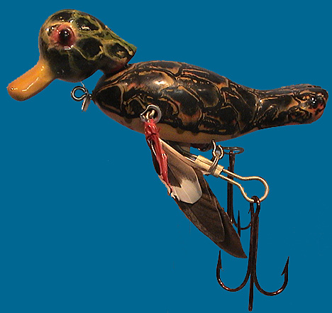 Old fishing collectables for sale old fish for Duck fishing lure