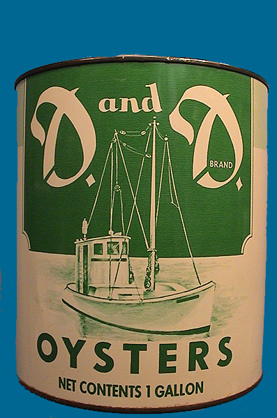 D&D Oyster tin 1 gallon