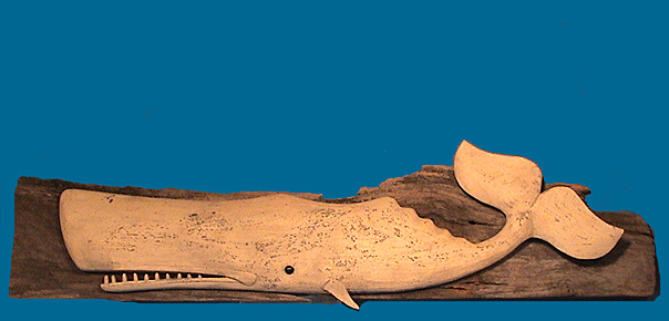 RD Whale carving