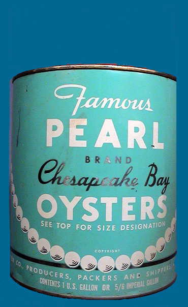 PEARL BRAND OYSTER TIN CAN